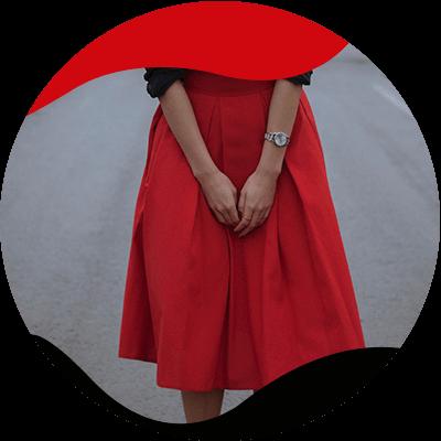 fashion trends - Pruimen rokken