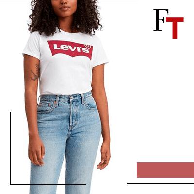 Fashion Trends - T-shirt met logo, Bereik de perfecte look met je favoriete Levi's jeans