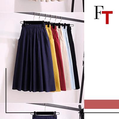 Fashion Trends - Rechthoekige figuur, beste manier om een rok te dragen