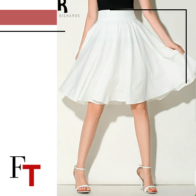 Fashion Trends - De elegantie van het peerachtige lichaam, beste manier om een rok te dragen