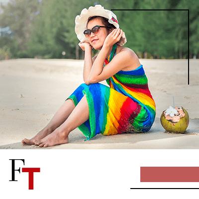 Fashion Trends - Draag je sarong als een asymmetrische jurk